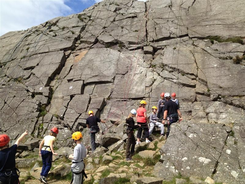 A School group Climbing